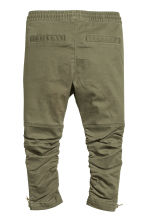 Joggers with zips - Khaki green - Kids | H&M CN 2