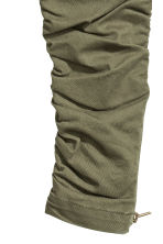 Joggers with zips - Khaki green - Kids | H&M CN 3
