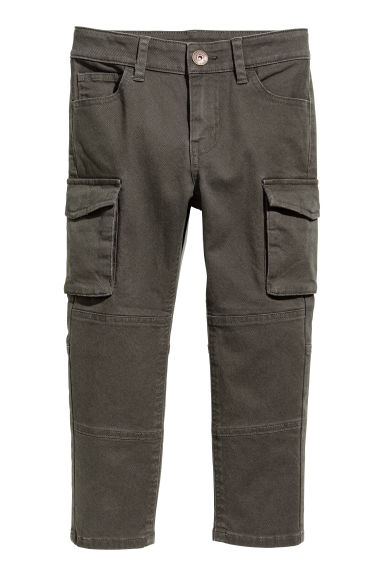 Cargo trousers - Dark khaki green - Kids | H&M GB