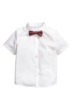 Short-sleeve shirt and bow tie - White - Kids | H&M 2