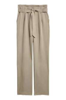 Wide lyocell trousers