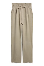 Wide lyocell trousers - Khaki - Ladies | H&M IE 2