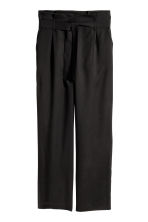 Wide lyocell trousers - Black - Ladies | H&M 2