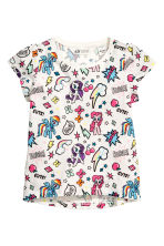 Lot de 2 tops en jersey - Blanc/My Little Pony -  | H&M FR 3
