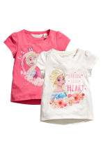 2-pack jersey tops - White/Frozen - Kids | H&M CN 2