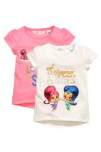 2-pack jersey tops - Pink/Shimmer and Shine - Kids | H&M 2