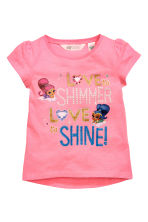2-pack jersey tops - Pink/Shimmer and Shine -  | H&M 3