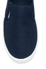 Mesh slip-on trainers - Dark blue -  | H&M 3