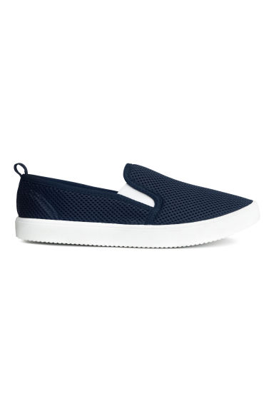 Mesh slip-on trainers - Dark blue -  | H&M 1