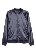Embroidered bomber jacket - Dark blue/Fish - Men | H&M CN 2