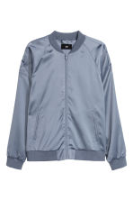 Embroidered bomber jacket - Silver grey - Men | H&M 2