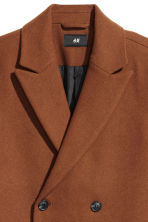 Double-breasted wool-mix coat - Brown - Men | H&M GB 3