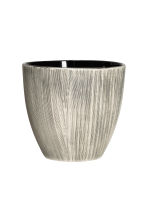 Textured plant pot - Natural white/Anthracite grey - Home All | H&M CN 1