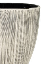 Textured plant pot - Natural white/Anthracite grey - Home All | H&M CN 2