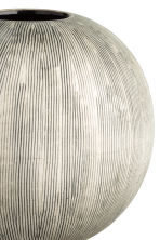 Globe-shaped vase - Natural white/Anthracite grey - Home All | H&M CA 2