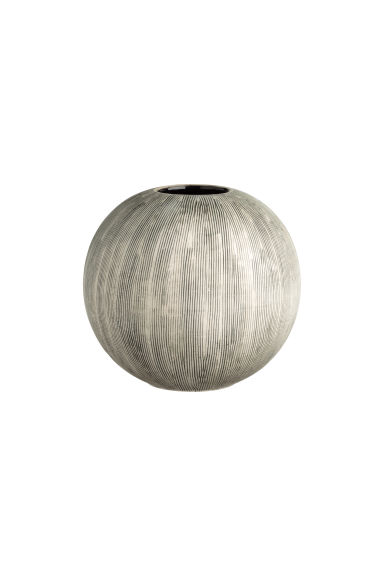 Globe-shaped vase - Natural white/Anthracite grey - Home All | H&M CN