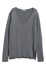 Fine-knit jumper - Dark grey - Ladies | H&M 2
