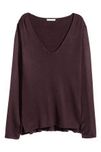 Fine-knit jumper - Plum - Ladies | H&M CN 2