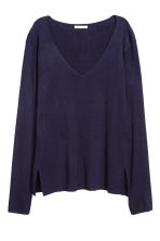 Fine-knit jumper - Dark blue - Ladies | H&M 2