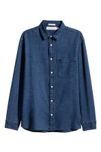 Denim shirt Regular fit - Dark denim blue - Men | H&M 2