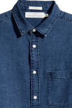 Denim shirt Regular fit - Dark denim blue - Men | H&M 3