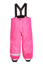 Outdoor trousers with braces - Neon pink - Kids | H&M 2