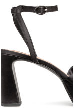 Platform sandals - Black - Ladies | H&M 4