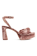 Platform sandals - Vintage pink - Ladies | H&M 1