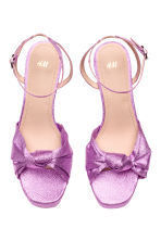 Platform sandals - Purple/Glittery - Ladies | H&M 2