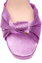 Platform sandals - Purple/Glittery - Ladies | H&M 3