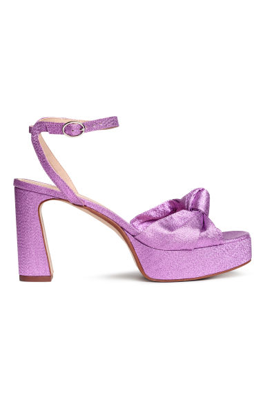 Platform sandals - Purple/Glittery - Ladies | H&M