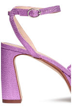Platform sandals - Purple/Glittery - Ladies | H&M 4