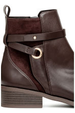 Boots with straps - Dark brown - Ladies | H&M GB 4