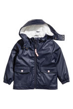 Pile-lined rain jacket - Dark blue - Kids | H&M CN 2