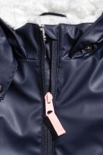 Pile-lined rain jacket - Dark blue - Kids | H&M CN 3