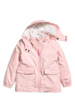 Pile-lined rain jacket - Light pink - Kids | H&M 2
