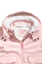 Pile-lined rain jacket - Light pink - Kids | H&M 3