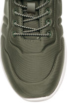 Trainers in scuba fabric - Khaki green - Kids | H&M CA 3