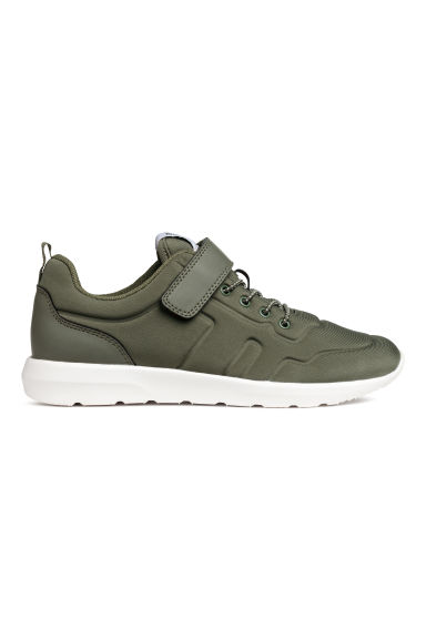 Trainers in scuba fabric - Khaki green -  | H&M
