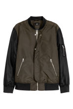 Nylon bomber jacket - Dark Khaki - Men | H&M CN 2