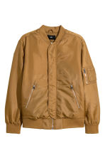 Nylon bomber jacket - Camel - Men | H&M IE 2