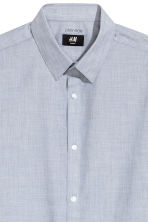 Easy iron shirt Slim fit - Grey/Chambray - Men | H&M CN 3