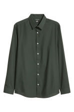 Camicia easy-iron Slim fit - Verde scuro - UOMO | H&M IT 2