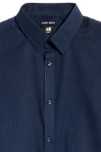 Easy iron shirt Slim fit - Dark blue/Chambray - Men | H&M 3