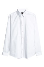 Easy-iron shirt Slim fit - White - Men | H&M CA 2