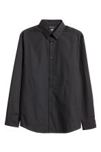 Easy-iron shirt Slim fit - Black - Men | H&M CA 2