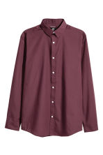 Easy iron shirt Slim fit - Burgundy - Men | H&M 2