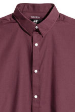 Easy iron shirt Slim fit - Burgundy - Men | H&M 3