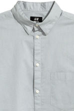 Cotton shirt Regular fit - Light grey - Men | H&M CN 3