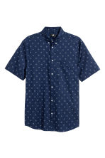 標準剪裁短袖襯衫 - Dark blue/Spotted - Men | H&M 2